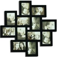 China Decorative Black Wood Wall Hanging Collage Picture Photo Interior Frame on sale