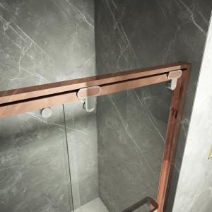 Cheap Frameless Hinged Bifold Toughened Glass Shower Screen for sale
