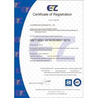 Luy Machinery Equipment CO., LTD Certifications