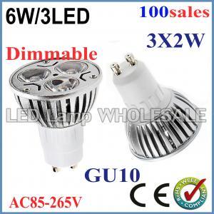 100pcs/lot High Power Dimmable GU10 E27 MR16 E14 3x2W 6W Spotlight Lamp 85-265V Light Bulb Downlight