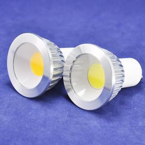 Cheap 3W COB Led spot light CU10 base lamp AC85-265V white/warm white led downlight Non dimmable flat lens surface bulb for sale
