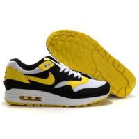 Cheap Wholesale Cheap Nike shoes - air max 87 Black White Yellow Shoes size 7  8  8.5 9.5 10 11 12 13 for sale
