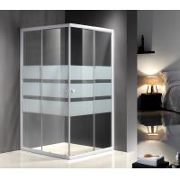 Cheap Serigraphy Glass Shower Enclosures With 10Cm Adjustable / White Painted Profile for sale