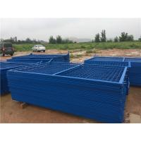Quality Blue Welded Metal Mesh Fencing Elegant Style Workshops / Warehouse Isolation Fence for sale