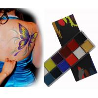 Cheap Pigmented Cosmetic Face And Body Paint Oil Based Makeup With 12 Colors for sale