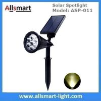 Cheap Solar Spotlights 7 LED Changing Color Garden Solar Lights Outdoor Bright Dark Sensing Auto On/Off In-ground Light for sale