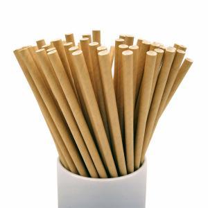 Cheap Commercial Convenient Kraft Paper Straws Portable Lightweight 1.2g Per Pcs for sale