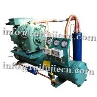 China Horizontal Bitzer Refrigerator condenser Units , 3-40HP semi-hermetic condensing unit on sale
