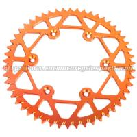 Cheap Aluminum Dirt Bike Rear Chain Sprocket / CNC Milling Dirt Bike Chains And Sprockets for sale