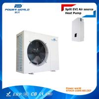 Cheap Air To Water Split EVI Heat Pump For Underfloor Heating / Plate Heat Exchanger For Indoor Unit for sale