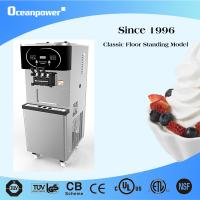 Cheap 165TC/165THC Soft Serve Freezer Floor Standing Twin Twist with Optional Pasteurization for sale