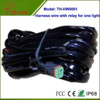 Cheap High quality Automobile Harness Wire with Relay and Deutch connectors for 1 LED light for sale