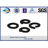 Cheap 65Mn Black Spring Locking Washer Single Layer And Double Layers For Railroad for sale