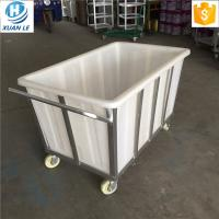 500litre commercial plastic laundry trolley carts with wheels for line