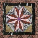 Cheap Granite Base Flower Patterns Marble Waterjet Medallion Floor Tile Marble Medallion Pattern,Floor Decoration for sale