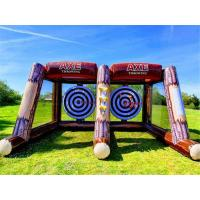 Cheap 2 Players Inflatable Sports Games Challenge Interactive Party Carnival Inflatable Axe Throwing Games for sale