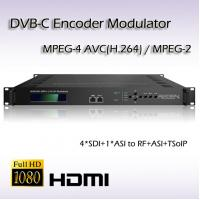 Cheap REM7004 Four-Channel SDI TO DVB-C hd MPEG-2/H.264 Vidoe Encoder Modulator HD-SDI Video Encoder for sale