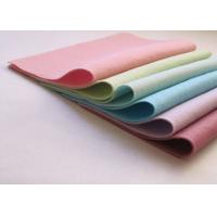 Cheap Pink Green Non Woven Polyester Felt Fabric Sheets Needle Punched Technics for sale