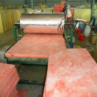 Cheap Pink colour Glass wool blanket heat insulation building materials/fiberglass wool for sale