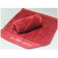 Cheap 100% Cotton Hotel Hand Towel 35x75cm , 40x70cm Red Color For Sale for sale