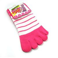 Cheap OEM pink color pretty bamboo fiber spandex anti - bacterial five toes socks for children  for sale