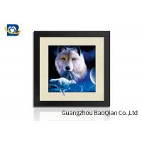 Cheap Decorative Animal Design 5D Pictures / Lenticular Image Printing Service PS Frame High Definition for sale
