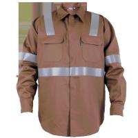 Quality Custom made Brown reflective Workwear flame retardant overalls wholesale