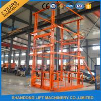 Quality 5T 6m Warehouse Hydraulic Guide Rail Freight Lift Elevator Vertical Goods Lift With CE TUV wholesale
