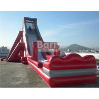 Cheap Fun Giant Red Hippo Water Slide / Inflatable Slip N Slide For Adult for sale
