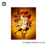 Cheap Colorful 3D Lenticular Poster Printing For NBA Advertising 50 * 71cm for sale