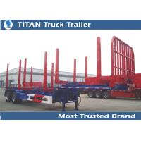 Cheap Two axles long log load gooseneck logging trailer 12,000*2,500*1,560 mm for sale