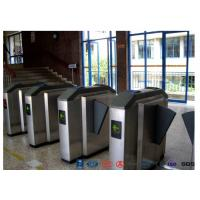 Facial Reader Access Control Flap Barrier Gate Stainless Steel For Entrance