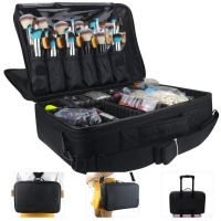China 3 Layer Polyester Artist Brush Box With Adjustable Dividers on sale