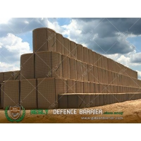 China Sudan Military HESCO Barrier Wall with Beige Color Heavy Duty Geotextile on sale