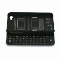 Cheap Bluetooth Sliding Keyboard + Hard Shell for iPhone 4 and 4S, with FCC, CE and RoHS Marks for sale