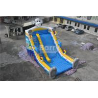 Cheap QiQi elephant single lane Blow Up Slide with digital printing , commercial dry slide for sale