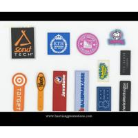 Cheap Custom plastic rubber patch/silicone label with color logol/pvc label for garment for sale