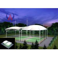 Cheap Badminton Gymnasium Tensile Fabric Canopy , Cable Stayed Membrane Playground Covers Canopy wholesale