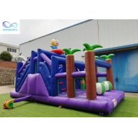 Cheap 4 in 1 kids outdoor pvc tarpaulin material inflable bouncer Inflatable forest slide for sale