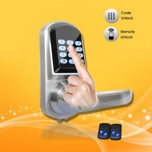 China Elegant Design Pass Code Door Locks , Remote Control Front Door Lock 154*68*78mm on sale
