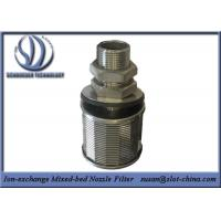 Cheap Stainless Steel Wedge Wire Screen Ion-exchange Mixed-bed Nozzle Filter for sale