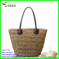 Quality wholesale handbags cheap sea grass straw tote bags wholesale