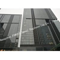 Cheap Double Glazed Layer Glass Facade Curtain Walling Multi Storey Steel Building For Business Mall for sale