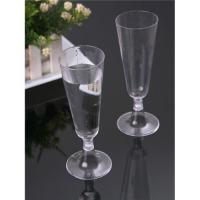 China Disposable plastic champagne glass on sale