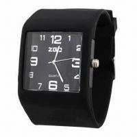 Cheap 2012 Newest Fashionable Silicone Rubber Analog Quartz Watch, OEM and ODM Orders Welcomed for sale