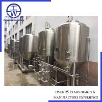 Cheap Optional Volume Beer Fermentation Tank Dimple Jacket Thickness 2mm - 6mm for sale