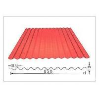 Cheap YX836 Anti corrosion 0.6mm thickness 850mm width red Color coated corrugated iron steel sheet for Wall for sale