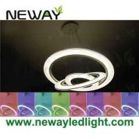 China Modern LED Ring Light Arcylic Circle LED Pendant Suspension Lights on sale