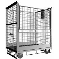 Cheap Safe Industrial Stainless Steel Roll Cage With Elastic Rubber Wheel For Material Handling for sale