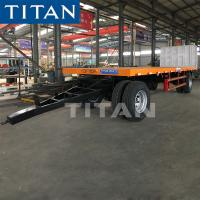 Cheap TITAN 20ft Container 30 Ton Flatbed Drawbar Pulling Full Trailer For Sale for sale
